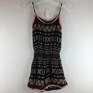 Fun & Flirt strap print sleeveless romper Size XS